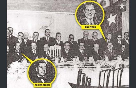 Documento histórico: Gardel y Perón, juntos
