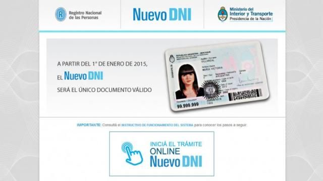 El tr mite para renovar el dni ahora por internet diario junin jun n bs as - Ministerio del interior renovacion dni ...